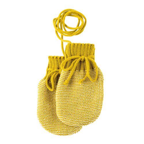 Disana Baby Strick-handschuhe curry/beige größe 0 (ca. 0-5 monate)