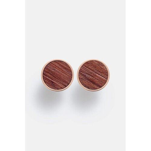 Kerbholz Ohrring Mit Holzelement 'Circle Earring' rosé rosenholz