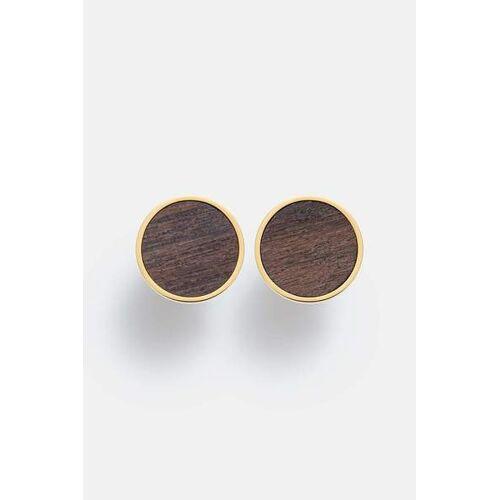 Kerbholz Ohrring Mit Holzelement 'Circle Earring' gold sandelholz