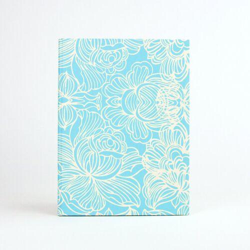 Sukham Notizbuch Lotus Din A5 Aus Handgeschöpftem Papier blau