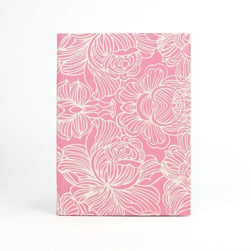 Sukham Notizbuch Lotus Din A5 Aus Handgeschöpftem Papier rosa
