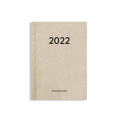 Matabooks Nachhaltiger Kalender Aus Graspapier A6 - Samaya 2022 (De/en) easy s