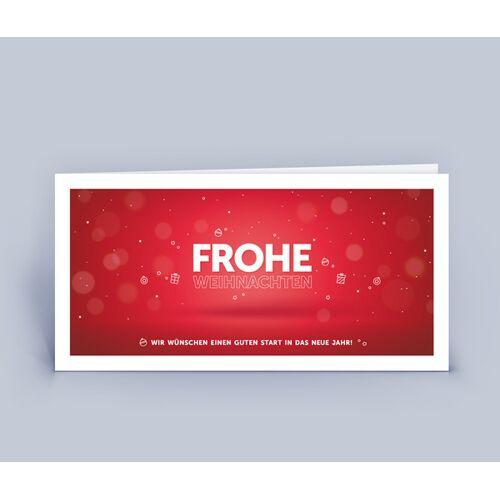 Eco-Cards Weihnachtskarten Din Lang Mit Exklusivem Design Im 10ér Set rot