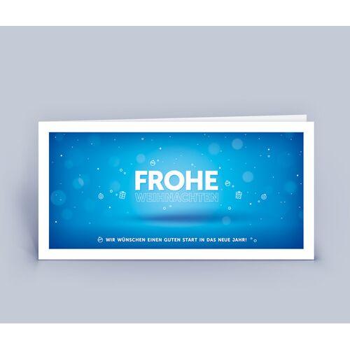 Eco-Cards Weihnachtskarten Din Lang Mit Exklusivem Design Im 10ér Set blau