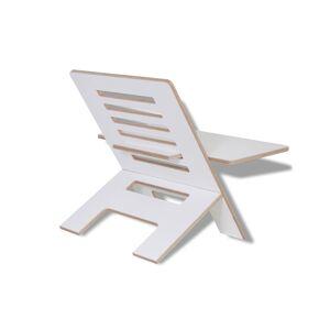 Standsome Slim White Mit Breiter Ebene - Stehschreibtisch-aufsatz Aus Holz white