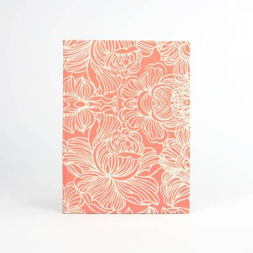 Sukham Notizbuch Lotus Din A5 Aus Handgeschöpftem Papier orange