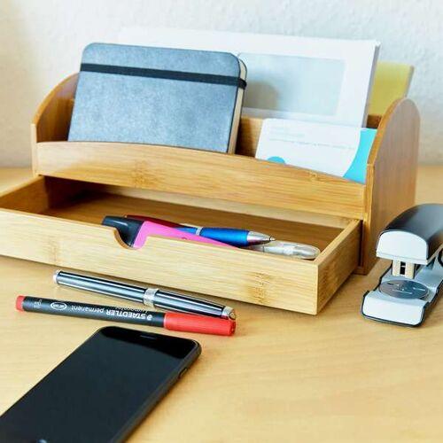 Bambuswald Schreibtisch Organizer Aufbewahrungsbox Stiftebox Stiftehalter