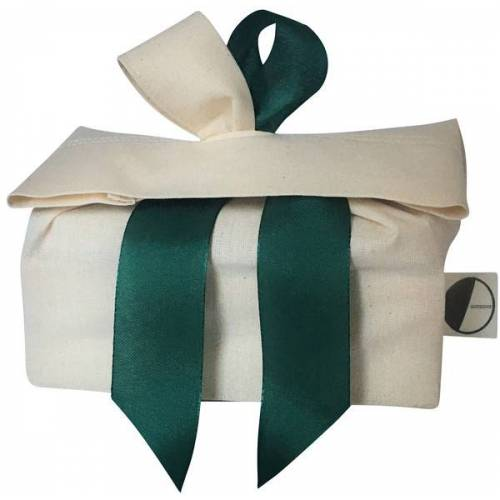 Goodgive Geschenkverpackung, Wiederverwendbar Aus Stoff beige/grün M