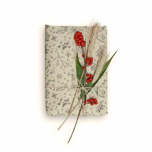 Matabooks Geschenkpapier Aus Graspapier: Winterliches - 10 Blatt