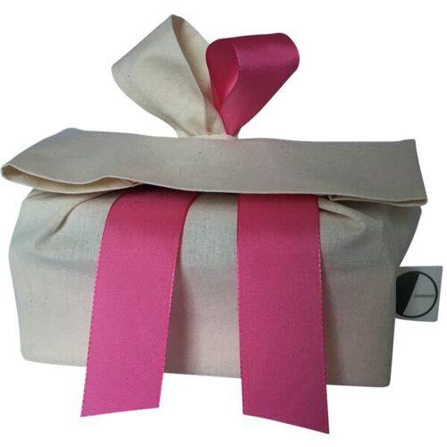 Goodgive Geschenkverpackung, Wiederverwendbar Aus Stoff beige/pink M