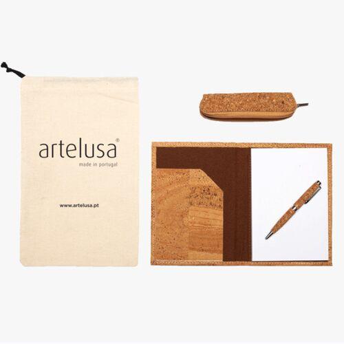Artelusa Kork Schreibwaren Set – Artelusa - Geschenkset Aus Kork