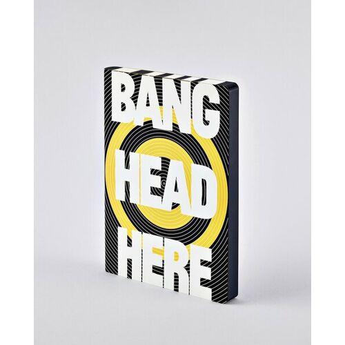 Nuuna Bang Head Here - Premium Notizbuch Mit Ledereinband
