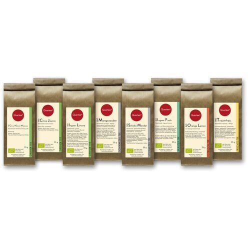 Quertee Probierset Bio Tee Quertee® Nr. 1 - 8 x 25 g Verschiedene Biotee Als Geschenkset / Probierset - 200 g Biotee