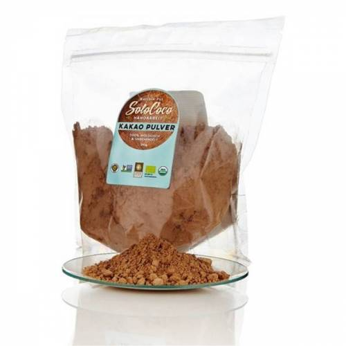SoloCoco Bio Kakao-pulver (Backkakao - Fair Trade, Roh & Vegan)