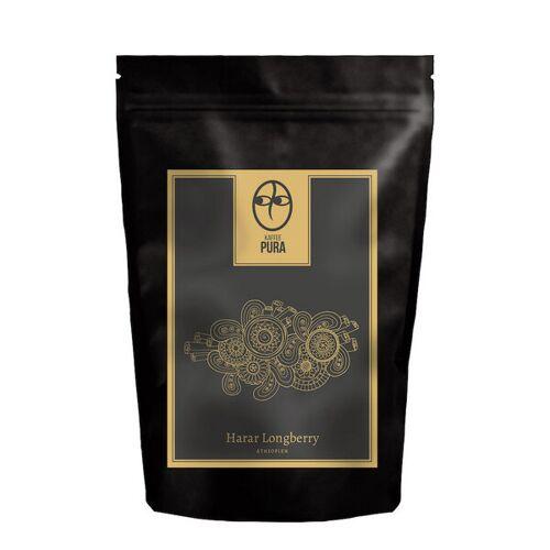 Kaffee Pura Premium Bio Kaffee - Harar Longberry Äthiopien - Bohne & Gemahlen kaffee