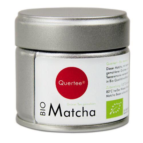 Quertee Japan Bio Matcha Pulver - Original Japan Matcha Tee - Premiumqualtiät - 30 g Dose matcha