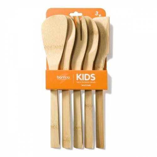 "Bambu Kochlöffel-set ""Kids In The Kitchen"""