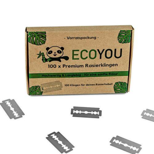 Ecoyou® Rasierklingen 100er Set   Ersatzklingen Klingen Für Rasierhobel
