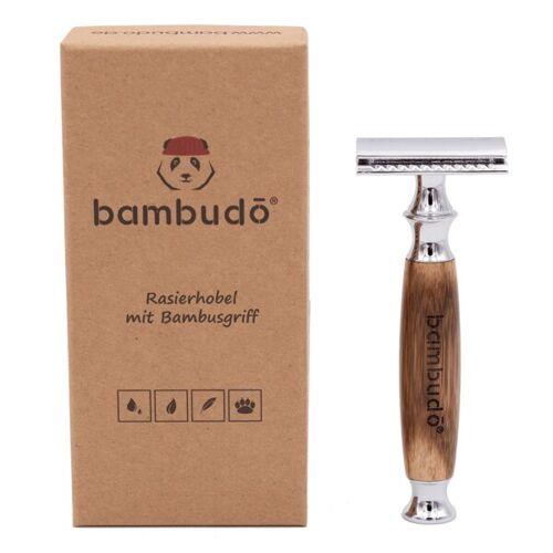 bambudō Rasierhobel Von Bambudo® Inkl. 10 Klingen Aus Solinger Stahl
