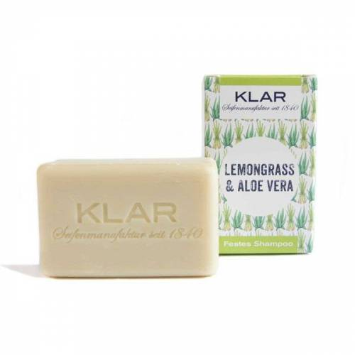 Klar Seifen Klar's Festes Shampoo Lemongrass & Aloe Vera 100g