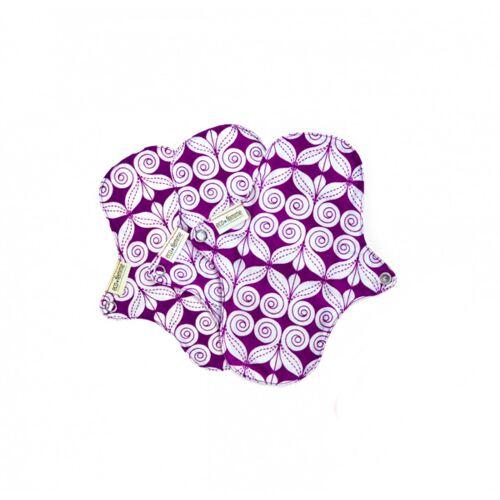 Ecofemme / Bio Stoffbinden Bio Stoffbinden Slipeinlagen - 3 Stück weiß mit floralmuster