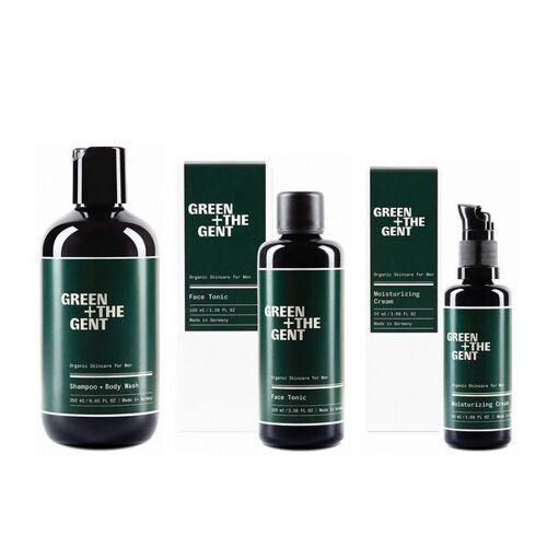 GREEN + THE GENT Geschenkset Für Herren, 3 Pflegeprodukte