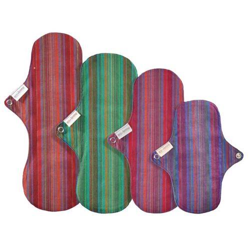 Ecofemme / Bio Stoffbinden Bio Stoffbinden Starter Kit - 4 Binden farbig mit streifenmuster