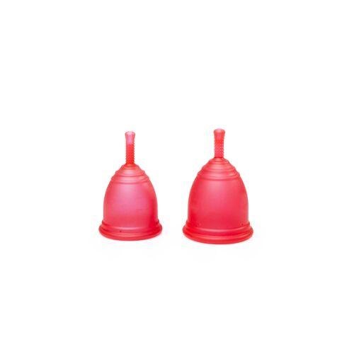Ruby Cup Menstruationstasse 2er-pack rot
