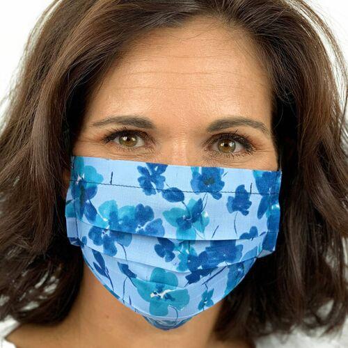 AnRa Mode Stoffmaske, Gesichtsmaske, Mund-nasen-maske Biobaumwolle stiefmütterchen XL