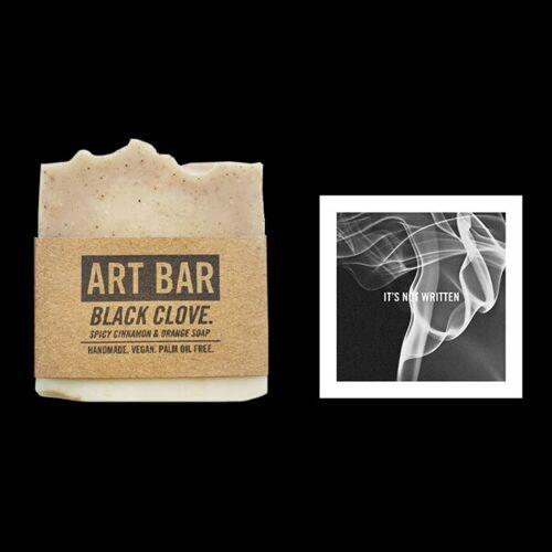 Jen Black Natürliche Seife (Orangen- Und Zimtseife) + Limited Edition Druck