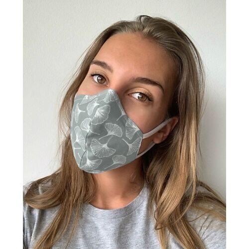 Mel Scherer Bio Ergonomische Maske Gut Für Brillenträger gingko grau und grau L