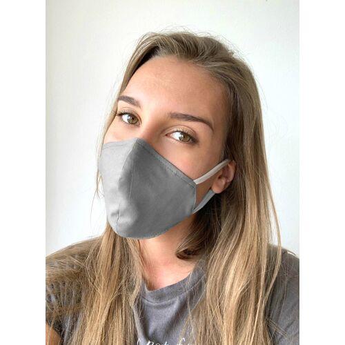 Mel Scherer Bio Ergonomische Maske Gut Für Brillenträger grau und schwarz L