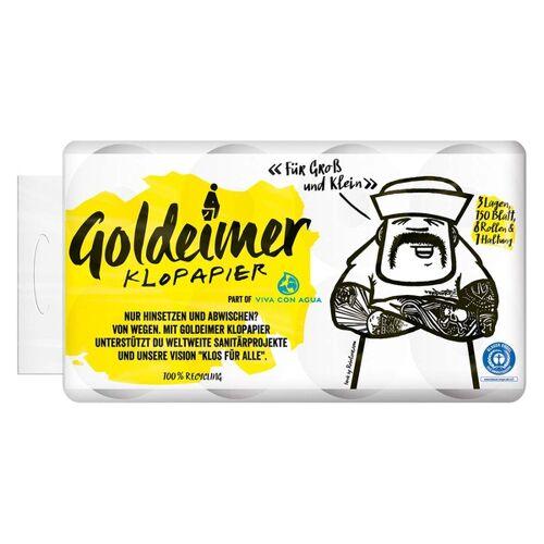 Goldeimer Klopapier, 3-lagig, 9 x 8 Rollen