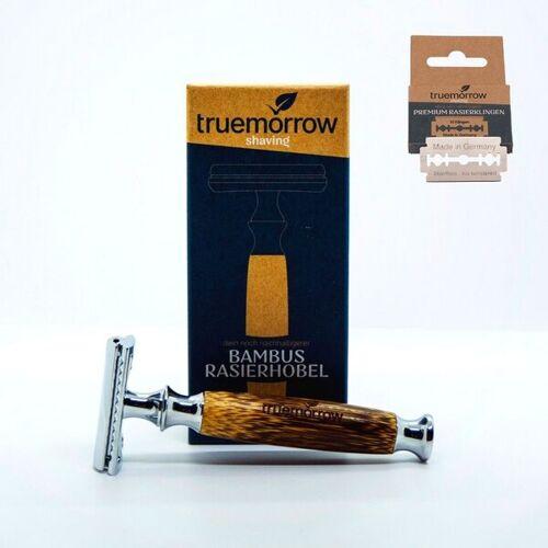 Truemorrow Bambus Rasierhobel - Rasierer Für Männer Und Frauen, Plastikfrei Und Zero Waste bambus