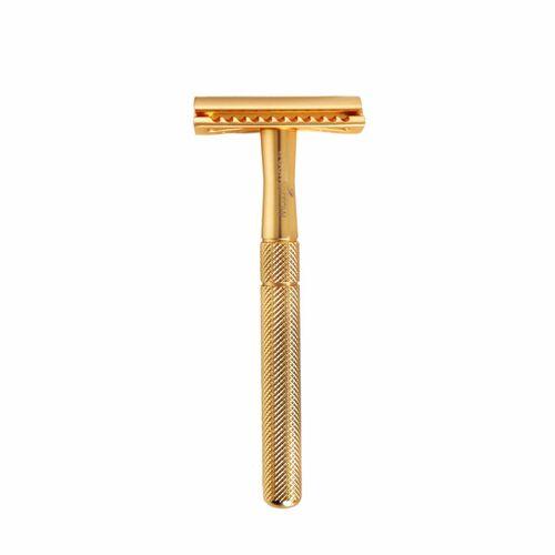truemorrow Premium Rasierhobel Metall, Plastikfrei, Rasierer Für Mann Und Frau gold
