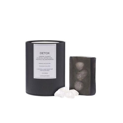 Love & Stones Detox Kristallquarz Handseife 100g