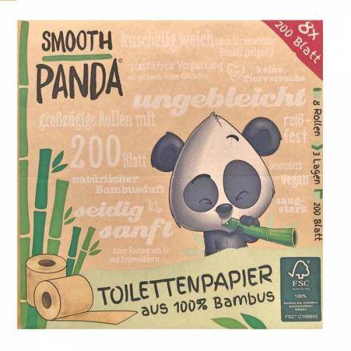 Smooth Panda Jahresbedarf Bambus Toilettenpapier bambus
