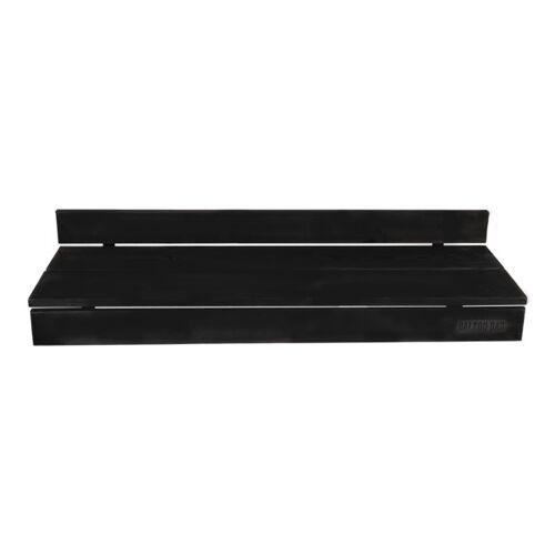 Balkonbar Pine Holz - Balkongeländer Rechteck Hoch - 90 x 30 Cm schwarz