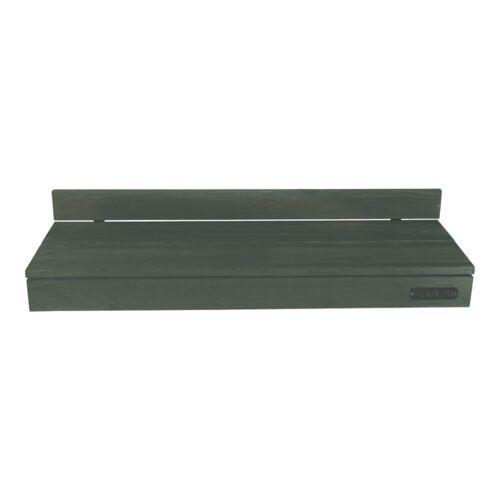 Balkonbar Pine Holz - Balkongeländer Rund - 90 x 30 Cm blau