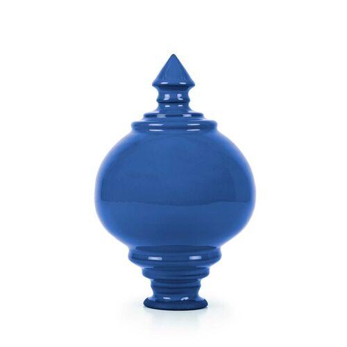 Servus am Marktplatz Rosenkugel Aus Keramik, Handgetöpfert blau