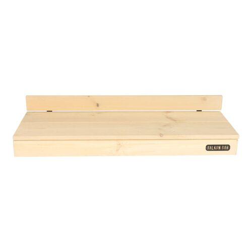 Balkonbar Pine Holz - Balkongeländer Rund - 90 x 30 Cm grau