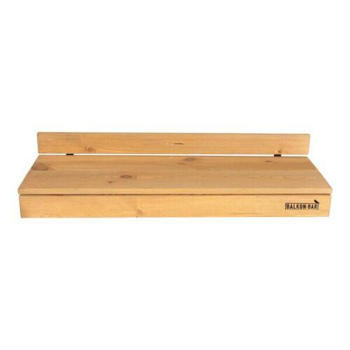 Balkonbar Pine Holz - Balkongeländer Rund - 90 x 30 Cm natural