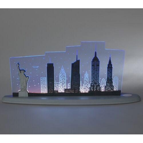 "Weigla® Holzkunst Die Motivleuchte ""New York, New York"" 3 D Effect"