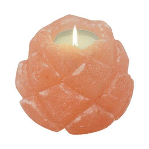 Mitienda Shop Teelichthalter Aus Salz Lotusblüte Salzkristall