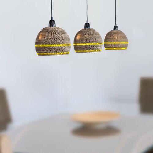 Keller Medien Deckenlampe Gelpe gelb 3ER