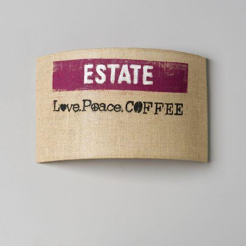 lumbono Wandleuchte Perlbohne N°91 Aus Kaffeesack