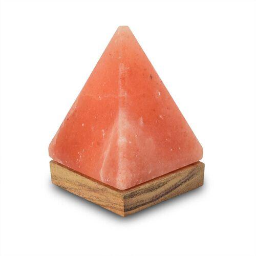 Mitienda Shop Tischleuchte Aus Salzkristall Led Pyramide