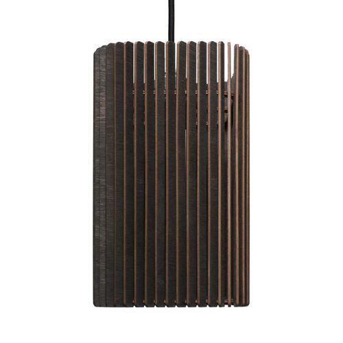farbflut Design Columna - Holzlampe schwarz