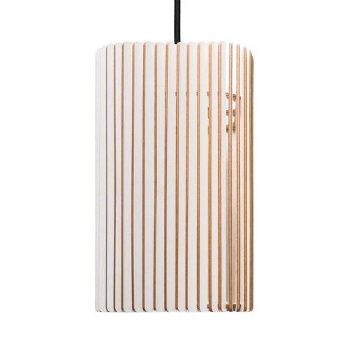 farbflut Design Columna - Holzlampe weiss