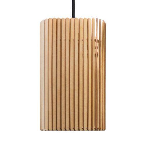 farbflut Design Columna - Holzlampe birke beige